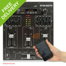 STM2270 Sound Effects Bluetooth Wireless Audio DJ PA Mixer 4-Channel SD USB MP3