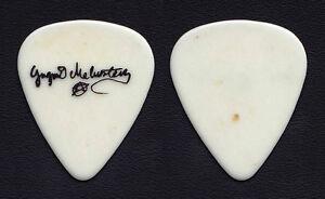 Alcatrazz Yngwie Malmsteen Signature White Guitar Pick - 1983-1984 Tour