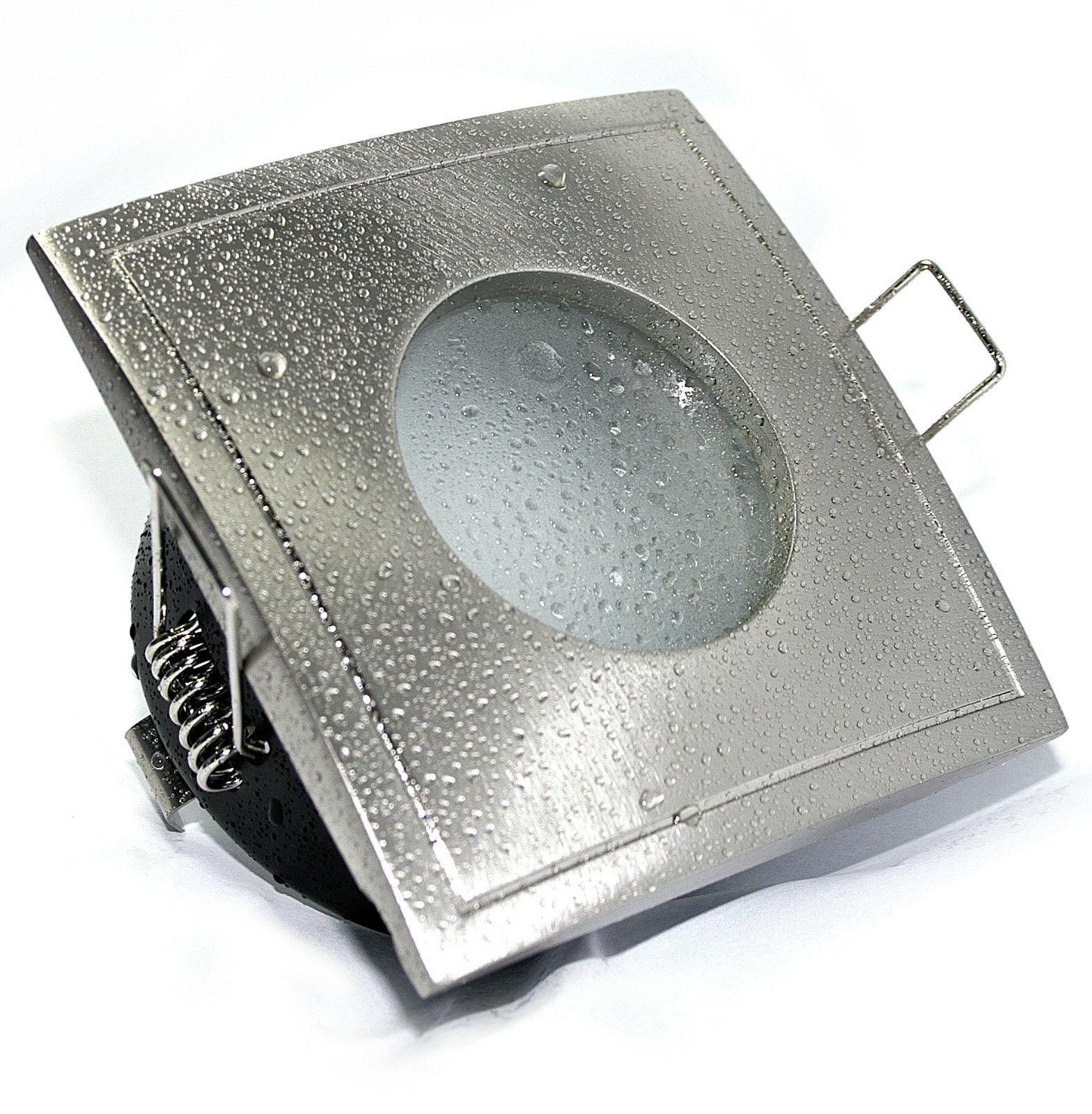 12V Einbaustrahler BAD Spot IP65 AQUA SQUARE MR16 & 5W Leuchtmittel 5Watt NV