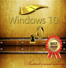 Windows 10 Pro 32 / 64 Bit Genuine License Activation Key Instant Delivery