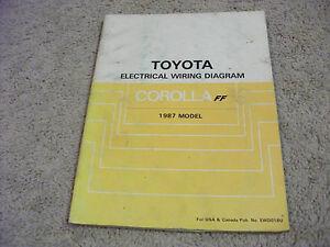 1987 Toyota COROLLA FF Electric Wiring Diagrams Service Manual | eBay