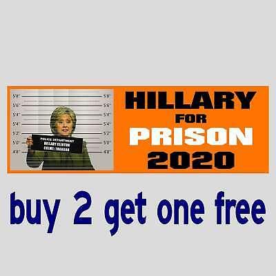 BIDEN FOR PRISON 2020 Sanders Trump Clinton Warren FUNNY BUMPER STICKER GoGo