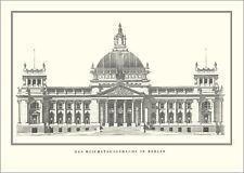 Berlin Reichstagsgebäude Poster Kunstdruck Bild Plakat 50x69cm