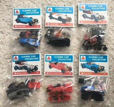 6 VINTAGE CITGO CLASSIC CAR COLLECTION MODEL KITS GAS STATION
