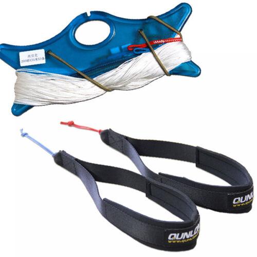 QUNLON 2-Line Wrist Straps with Dyneema Line Set for Trainer Kite Power Kites