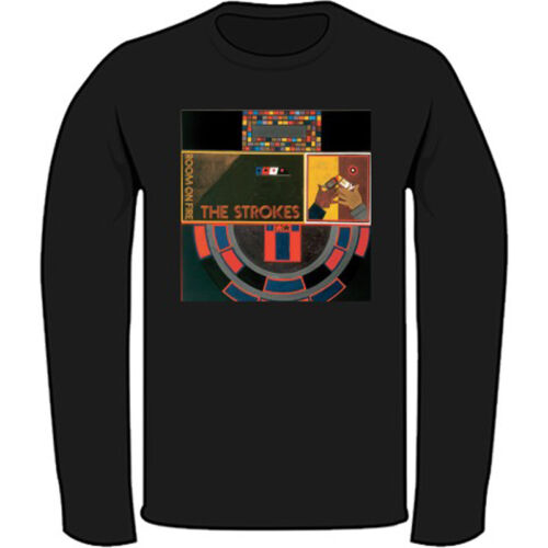 The Strokes *Room on Fire Men/'s Black Long Sleeve T-Shirt Size S-3XL