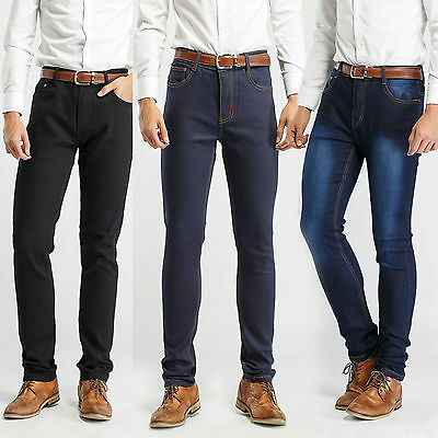 30W Robelli Men/'s Stonewash Designer Slim Fit Denim Stretch Jeans