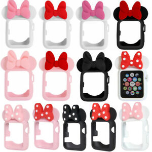 outlet store dd10f ec3c4 Details about Protective Case Cover Mickey Minnie Mouse Ears for Apple  iWatch 38/42mm 40/44mm