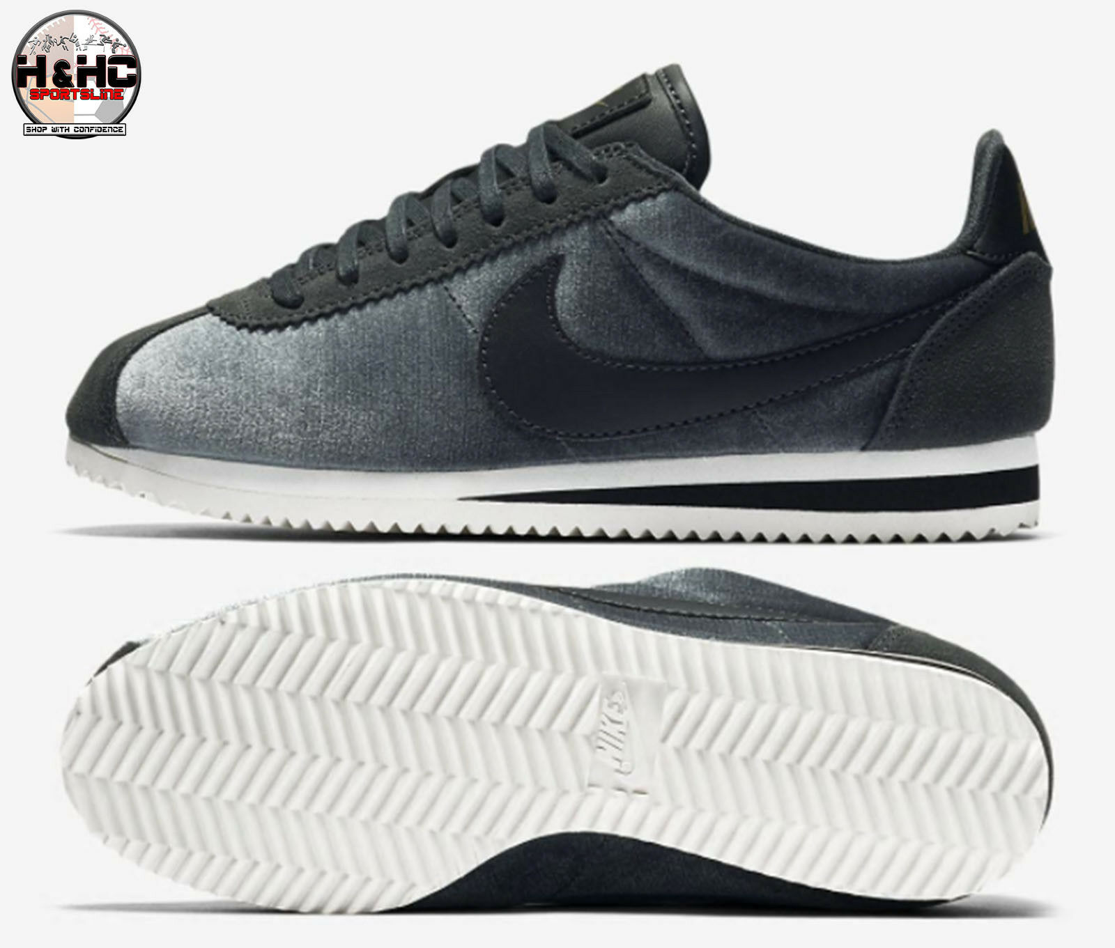Nike Classic Cortez Sz SE 902856 012 Anthracite/Black Women's Shoes Sz Cortez 9.5 bf8211