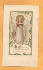 IMAGE PIEUSE HOLY CARD ANGE LOUANGE COEUR PUR  1906
