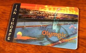 TELSTRA TELECOM PHONECARD IAN THORPE SYDNEY 2000 OLYMPICS HOLOGRAPHIC