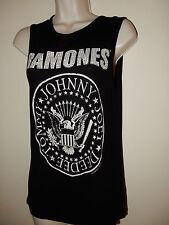 Ramones American Punk Studded Black Vest Top Plus Size 10 worn a few times VGC