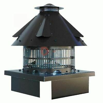 Fumaiolo radiante elettrico con attacco quadro 220V aspiratore per fumo