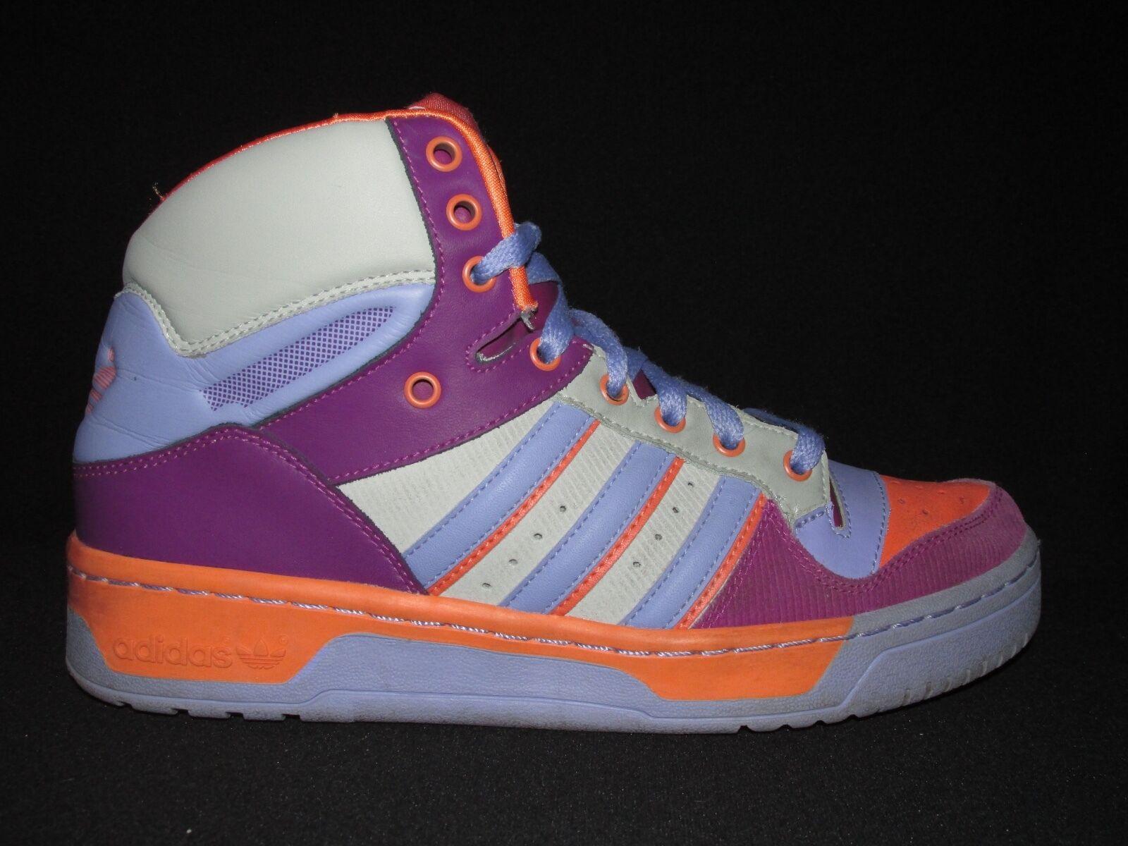 Adidas 2009 Trefoil Lavender orange Wine Hi-Top Fashion Basketball Women's US 9M