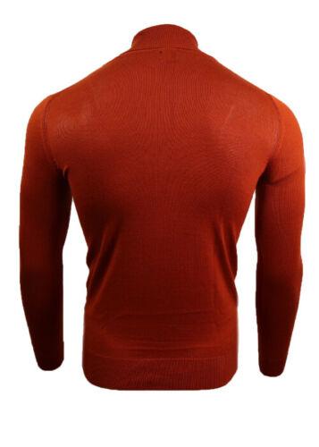 Men/'s Ex River Island High Collar Turtle Roll neck premium knit jumper Polo Tops