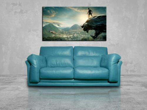 Black Panther Marvel Super Hero CANVAS PRINT Wall Giclee Art Poster Photo CA1043