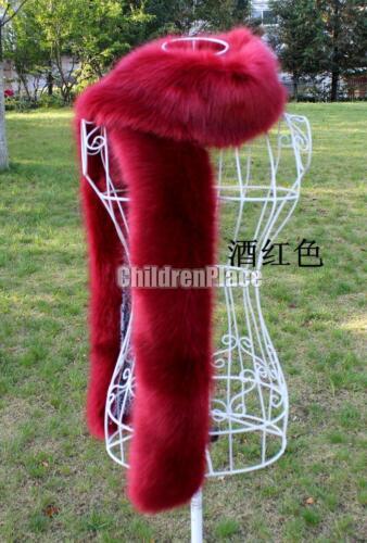 "Women 72/"" Faux Noble Fox Fur Collar Fur Scarf Scarves Collar Shawl Wraps 1"