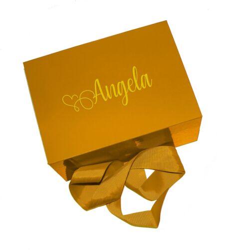 Cajas De Regalo Personalizado Cualquier Nombre cualquier ocasión recuerdo presenta grandes o medianas