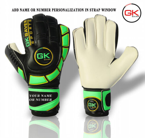 keepers Gloves Finger Save Football Goalie Flat Cut Gloves Size 4-11
