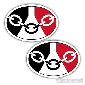 WINDOW STICKERS DECALS 100mm x 70mm 2 x BLACK COUNTRY OVAL FLAG CAR BUMPER