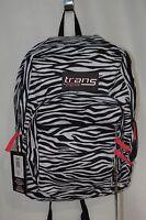Trans By Jansport Supermax Black/white Zebra Print Unisex Backpack