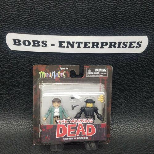 Diamond Select Toys The Walking Dead Minimates Ser #5 Glenn /& Maggie MM-18