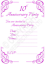 Lot de 10th Tin Mariage Anniversaire Fête Invitations Calligraphie invite