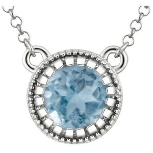14kt-White-Gold-Swiss-Blue-Topaz-18-034-Chain-amp-Pendant-Necklace