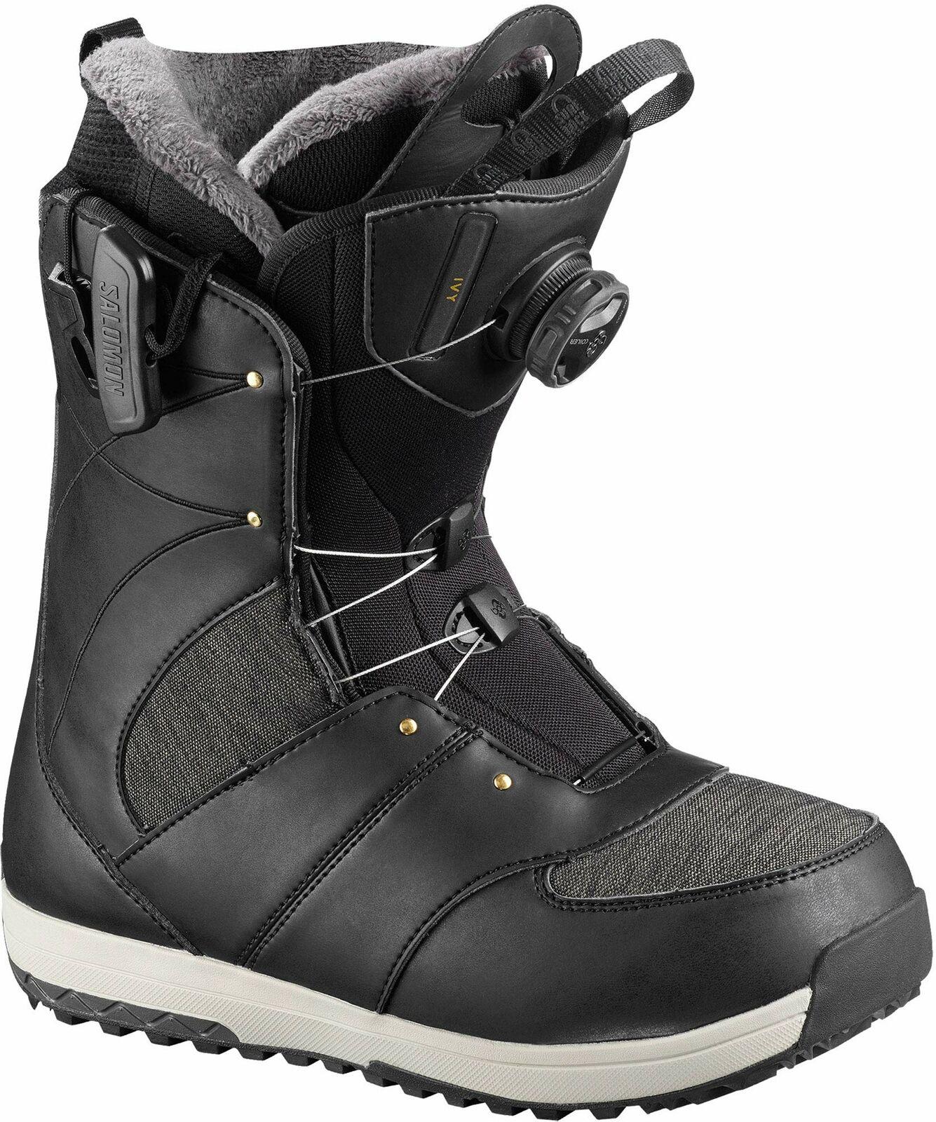 New 2018 Salomon Ivy Boa Snowboard Boots Womens 7.5 Bordeaux