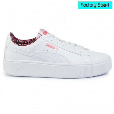 campeón cura verbo  PUMA Vikky Stacked Neon Lights White & Rosa Sneakers Fashion Casual For  Woman | eBay