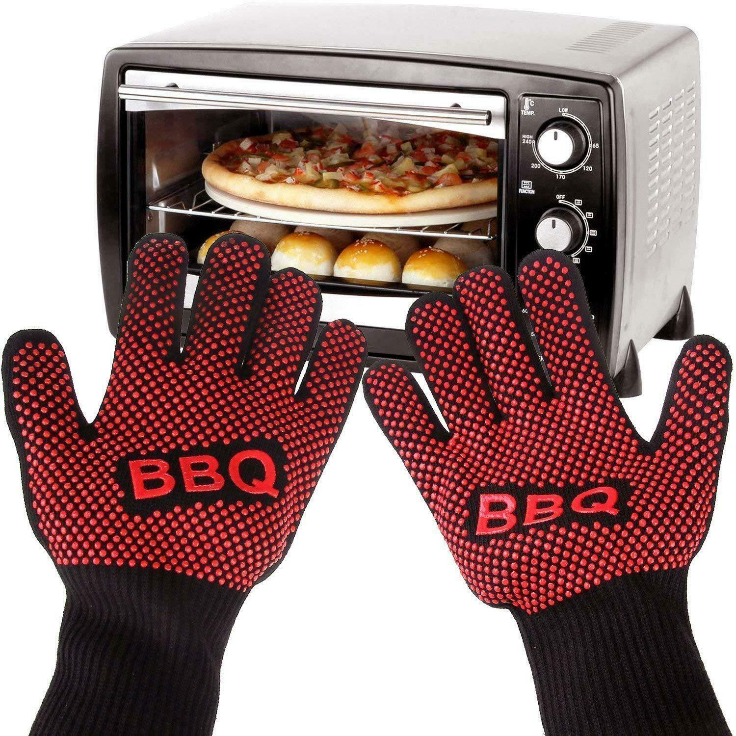 1 Pair Mini Oven Mitts Gloves Silicone Heat Resistant Cooking Pinch Mit