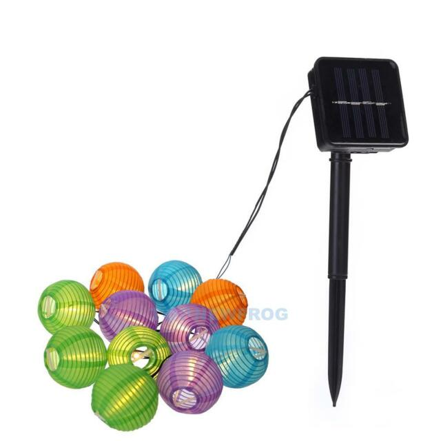 Weihnachtsbeleuchtung Tropfen.20 Led Solar Lichterkette 2 Modi Weihnachtsbeleuchtung Party Garten Deko Lampion