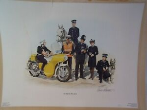 Chas-C-Stadden-Limited-Edition-Vintage-1976-Sussex-Police-Print
