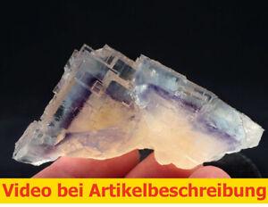 7764-Fluorit-Phantom-ca-4-8-5-cm-Minerva-Mine-USA-Illinois-Cave-in-Rock-MOVIE
