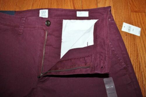 NEW NWT Mens GAP Khakis Lived In Skinny Fit Khaki Chinos Stretch Tuscan Red $49