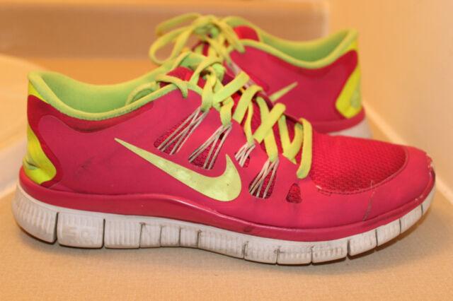 36d61775ba11aa Nike Free 5.0 Women s Pink Neon yellow Running Shoes Sz  9