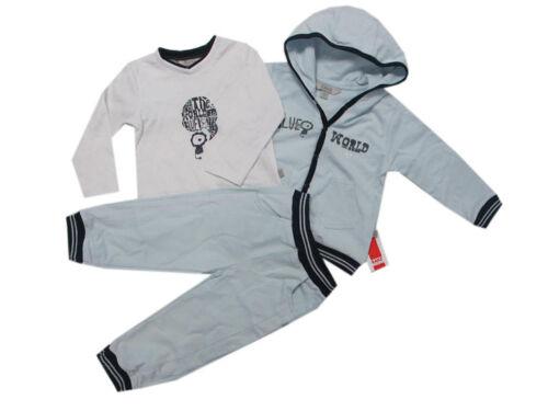 Kanz Babyanzug 3-tlg Jogginganzug Jacke Hose Shirt mit Kapuze Jungen 68,74,86
