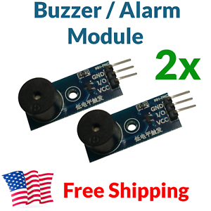 2X Arduino Buzzer Alarm Module Beeper Speaker Shield STM32 AVR ESP32 3.3V 5V USA