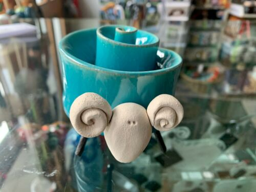 Ceramic Hand Formed Twist Sheep by Otus Designs 4 Assorted