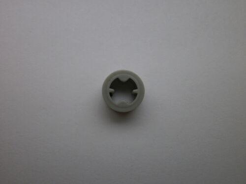 12 x Lego Technic partie aucune c 4265 Technic Bush ½ lisse en vieux gris