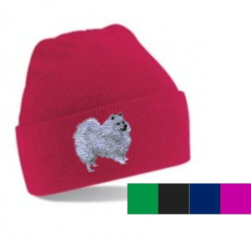 Japanese Spitz Beanie Hat  Perfect Gift Embroidered by Dogmania