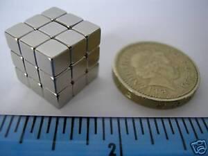 30-of-3-16-034-Cube-Magnets-Neodymium-5mm-Rare-Earth-Strong-Neo-Block-square-NIB