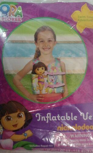 Dora or  Spider-man Inflatable Pool swim Vest ages 3 New