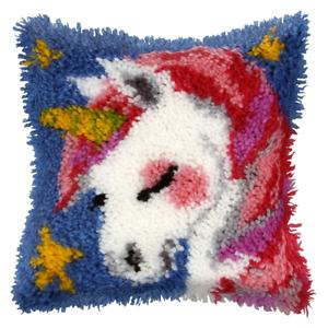 Latch Hook Kit Unicorn Cushion Craft Tapestry Rug Wool Hooking
