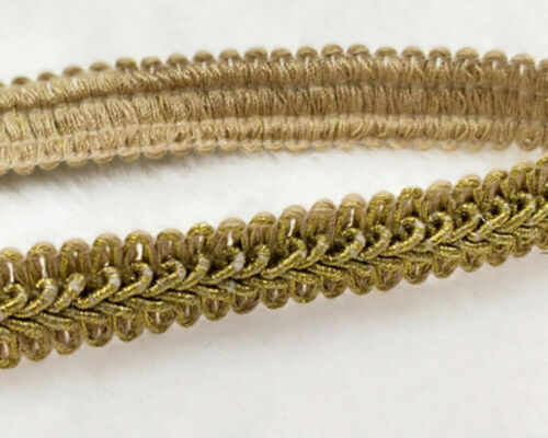 20mm SILKY SCROLL BRAID Blinds Lampshade Costume Upholstery Metallic Gold