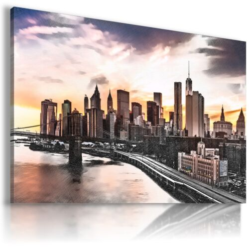 NEW YORK CITY STATUE OF LIBERTY View Canvas Wall Art Picture Large   L6  MATAGA