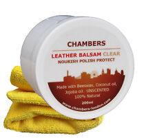 Leather Conditioner & Restorer Chambers Leather Balsam for sofas, boots, bags...