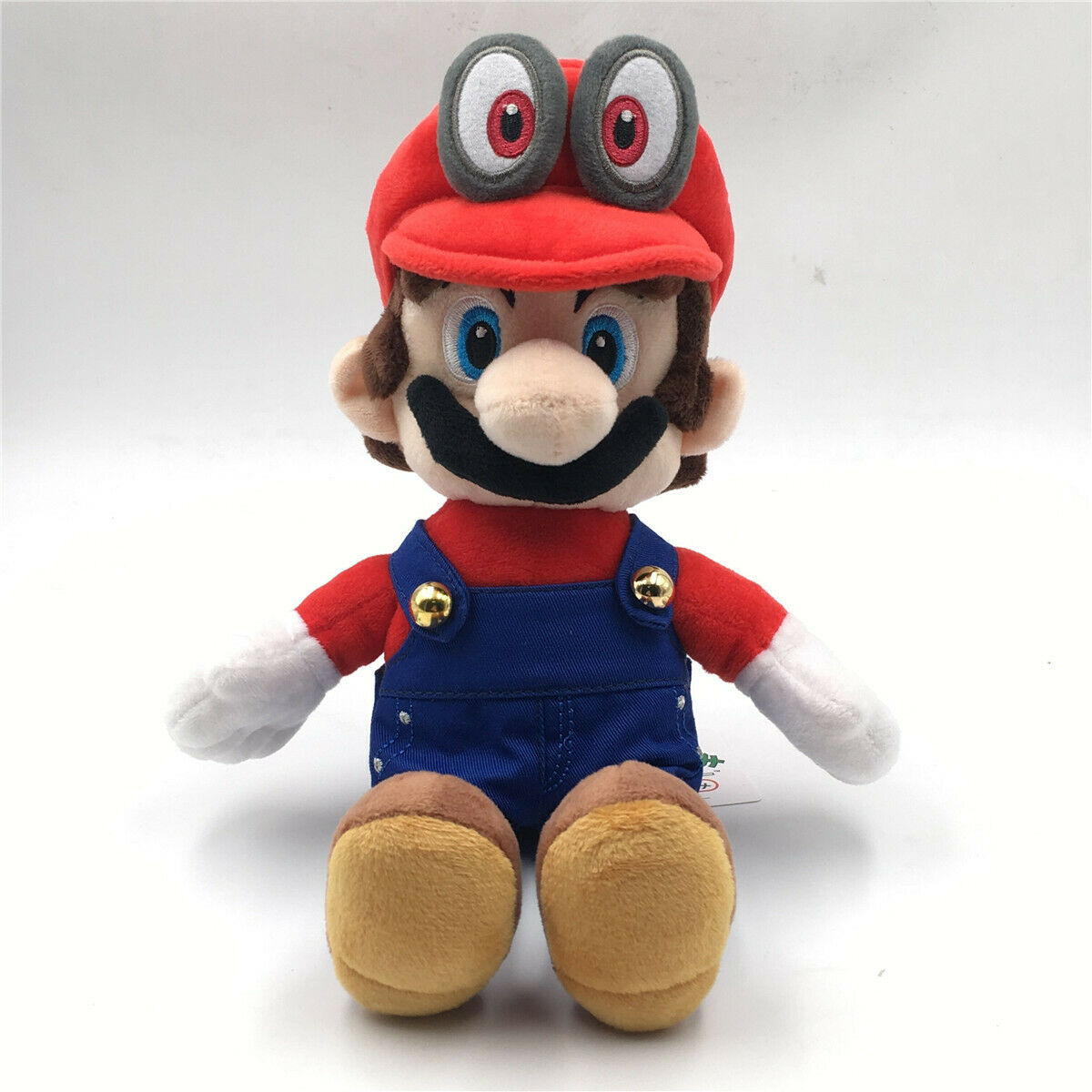 "Soft. New Super Mario Brother Cappy Mario Odyssey Large 12/"" Plush Toy"