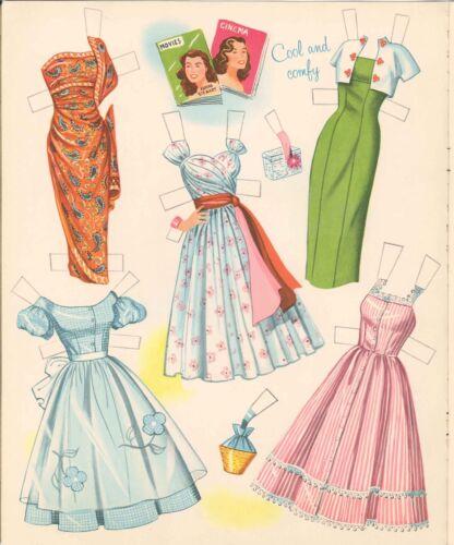 VINTGE 1955 ELAINE STEWART PAPER DOLL LASR REPRODUCTIN~UNCT LO PR NO1 SELLR