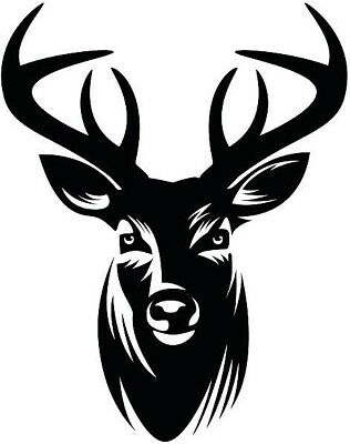 "Deer Head Tribal Art Decal Wall Car Laptop Bike Vinyl Sticker 6/"""